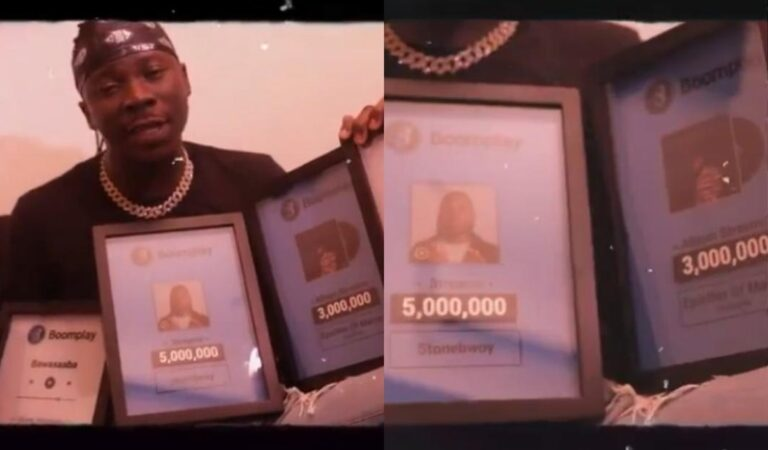 VIDEO: Stonebwoy bags another top accolade from Boomplay