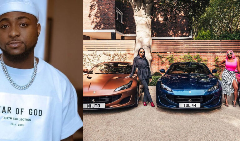 Davido Reacts To Femi Otedola's Decision To Gift His Three Daughters Brand New Ferraris And Makes A Vow (+Screenshot)