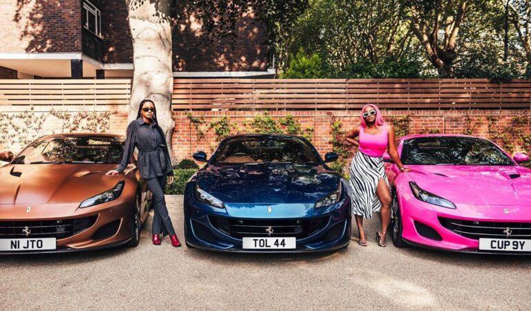 Money! Nigerian Billionaire Femi Otedola Buys 3 Brand New Ferraris For His 3 Daughters (Photos)
