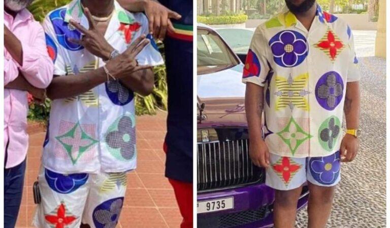 SCREENSHOTS: 'Richest' Ghanaian musician, Shatta Wale mocked for wearing a fake Gucci shirt as perfectly worn by Hushpuppi