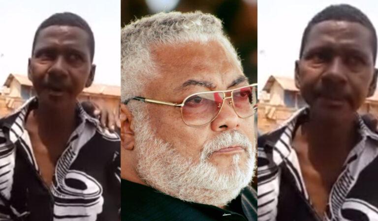 WAHALA! 50 year old man from Nkoranza  appears to be the first son of Jerry John Rawlings; Says Nana Konadu sent military men to kill him(video)