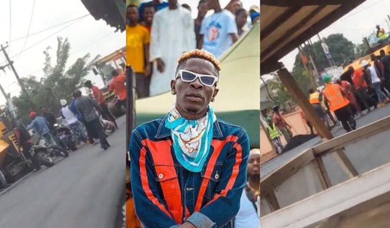 VIDEO: Shatta Wale Shockingly Hires Some Nima Boys To Allegedly Attack Road Contractors For Not Letting Him Pass