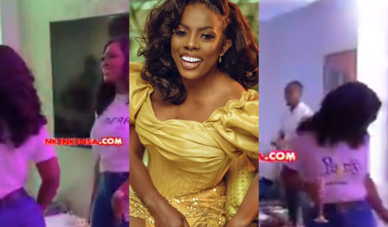 Colleague Slay queens throng to celebrate Nana Aba Anamoah as she organizes a champagne party on her birthday